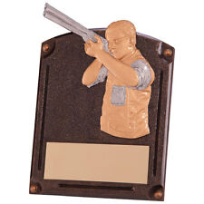 AVENGER SHOOTING GUN TROPHY SOLID RESIN PLAQUE AWARD FREE ENGRAVING RF4151A SS
