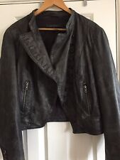 Real Leather Ladies Jacket From NEXT  Size 20 Vintage Look