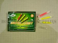 15 x YELLOW RED MINI GLOW STICKS Small Survival Kit Fishing Chemical Night Light