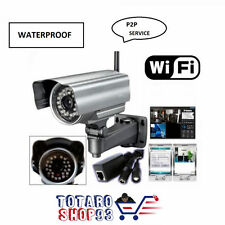 TELECAMERA WIRELESS VIDEO SORVEGLIANZA IP CAMERA ESTERNO INFRAROSSI 3G WIFI PC