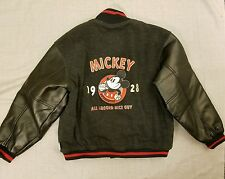Disney Mickey Mouse Nice Guy 1928 Wool Letterman Varsity Jacket Mens Size Medium