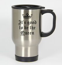 Good To Be Queen #139 - Funny 14oz Silver Travel Mug Valentine's Day Love