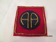 """WWI US Army patch 82nd Division 'All American"""" Patch AEF"""