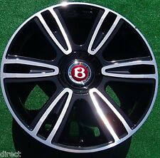 4 NEW OEM Factory Bentley Continental BLACK 21 inch WHEELS Flying Spur GTC V8