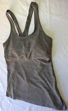 PERFECT GRAY WOMAN'S LULULEMON ATHLETICA RACERBACK ATHLETIC TANK TOP 6 CUT OUT