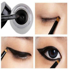 New Cosmetic Waterproof Eye Liner Eyeliner Shadow Gel Makeup + Brush Black J