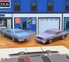 Papercraft Ford Gran Torino Elite SILVER Paper Model Car EZU-build 1974-1976