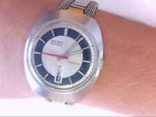 Vtg Rare Gruen Precision 17 Jewel Oval Day/Date Wrist Watch. RUNS! BUY NOW!