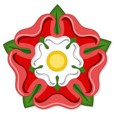 "Tudor Rose Flag car bumper sticker window decal 5"" x 5"""
