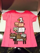 Official Minecraft Animals T Shirt Pink Top Girls Size XS 4/5