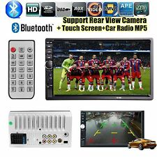 "7"" Bluetooth 2 Din Autoradio FM AUX-In MP5 Player Touchscreen Monitor Head Unit"