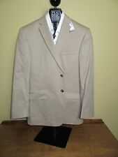 $495 New Jos A Bank JOSEPH solid Khaki Slim fit cotton suit 37 R 31 W