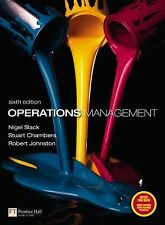 Operations Management by Robert Johnston, Stuart Chambers and Nigel Slack...