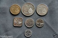 Aruba Complete 7 Coin Set - 5 10 25 50 Cent & 1 2.5 5 Florin - UNC