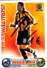 Hull City F.C Peter Halmosi Hand Signed 08/09 Premier League Match Attax.