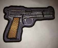 "Browning 9mm Hi Power Pistol/ Guns Firearms Embroidered 4"" Patch"