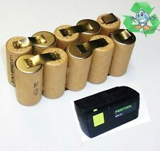 Replacement battery cells for Original Festool BPS 12 s 12 V NiCd with 2,Ah