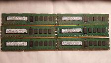Samsung 24GB (6x4GB) PC3-10600 DDR3-1333MHz ECC Reg M393B5273CH0-YH9 Server RAM