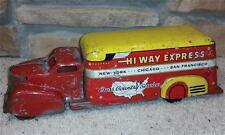 """16"""" Marx Hi-Way Express 1930s/1940s Delivery Box Truck Van Complete Wyandotte"""