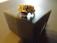 In scatola Donna Argento 925 Vintage Marcasite & Ametista Ring (Size o)