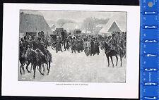 NAPOLEON ABANDONING HIS ARMY AT SMORGONI- 1901 Historical Print