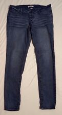 Bongo Womens Distressed Skinny Blue Jeans Stretch Low Rise Inseam 32 Size 15