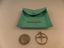 Tiffany & Co Sterling Silver Man Power Circle Pendant