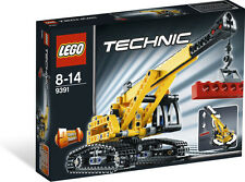 LEGO Technic 9391 Tracked Crane Bulldozer 2 in 1 Used  RETIRED