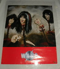 "1986 WASP W.A.S.P. Blackie Lawless Heads on Spikes vintage wall poster 20""x16"""