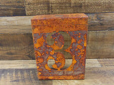 "NUMBER ""3"" RUSTY FINISH 8"" LASER CUT METAL BLOCK NUMBER RUSTIC DECOR RUSTED SIGN"