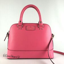 NWT Kate Spade NY Leather Wellesley Small Rachelle Purse Pink WKRU2485 MSRP $295