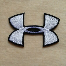 LOTS OF 100 QTY UNDER ARMOUR SPORT LOGO EMBROIDERY IRON ON PATCH BADGE #WHITE
