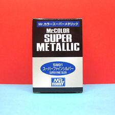 Mr. Hobby #SM01 Mr. Color Super Metallic - Super Fine Silver