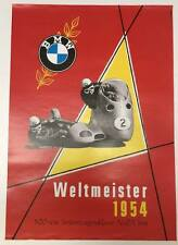 BMW Vintage Motorcycle Poster -Weltmeister 1954 RARE bike