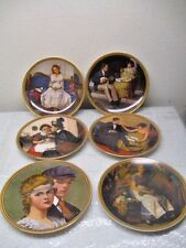Lot of 6 Norman Rockwell Knowles Plates - Rediscovered Women Collection - 1983