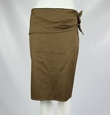 Gucci Women IT 44 / US 8 Brown Side Tie Made Italy Stretch Straight Pencil Skirt