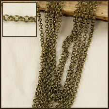 1m x 1.5mm Antique Bronze Brass Rolo Chain 102