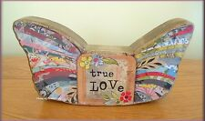 """TRUE LOVE WINGS SCULPTURE BY KELLY RAE ROBERTS 4"""" X 9.5""""  FREE U. S. SHIPPING"""