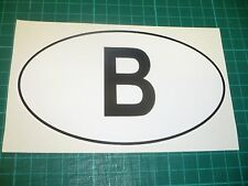BELGIUM  Oval Car Vehicle Sticker