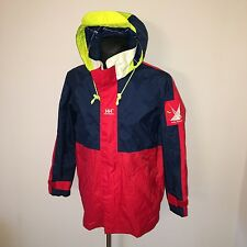 Mens HELLY HANSEN Red Waterproof Sailing Offshore jacket Size S