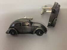VW Beetle (Split Rear S 3D cufflinks classic car pewter effect cufflink ref289