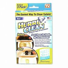 Hurriclean 3-Pack Automatic Toilet Bowl/Tank Cleaner Remover AS SEEN ON TV, NEW