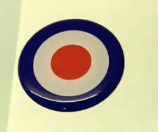 4 X 35mm Lambretta Vespa Mod Target Dome Round Sticker Gel Badge