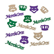 2 oz. Mardi Gras Confetti Party Favors COMEDY TRAGEDY mask crown FAT TUESDAY