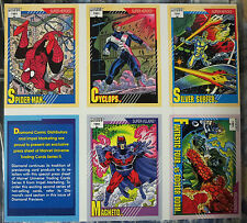 Marvel Universe Uncut Card Sheet #5- Diamond Previews Exclusive1991Spider Man