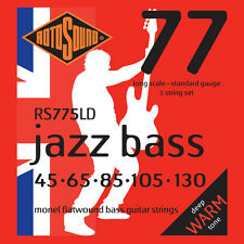 Rotosound RS775LD Flatwound 5 String Electric Bass Strings