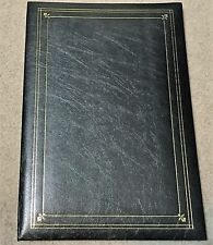 PIONEER PHOTO 200 POCKET BOUND BLACK LEATHERETTE PHOTO ALBUM WITH GOLD HIGHLIGHT
