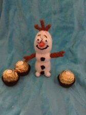 KNITTING PATTERN - Frosty the frozen snowman chocolate Christmas in Olaf white