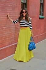 ZARA long maxi skirt silky satin yellow flowy beautiful! sz M best seller!!!