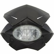 Black Naked Street Fighter Front Upper Universal Fairing H4 Headlight Motorcycle